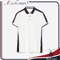 vertical striped men's unbranded polo shirts with guangzhou supplier