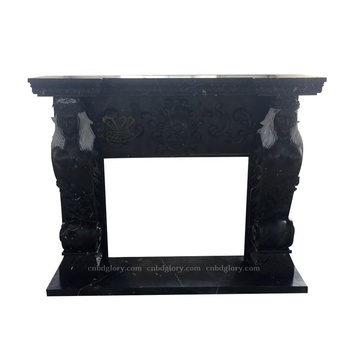 Wholesale Indoor ornaments Natural Marble Fireplace Mantel