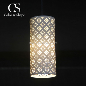 Elegant matt white porcelain decorative pendant light indoor modern lighting