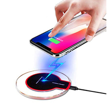 UUTEK Free shipping Universal QI wireless charger New Ultra-Thin Crystal K9 5W charger Wireless for mobile