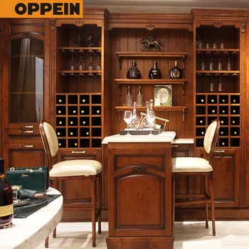Guangzhou Oppein Canton Fair Modern Bar Counter Furniture And Wine Cabinets