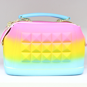 707ffe82c9b3 two handles tricolors handbags/beachkin jelly bags,matte jelly bag sling bag