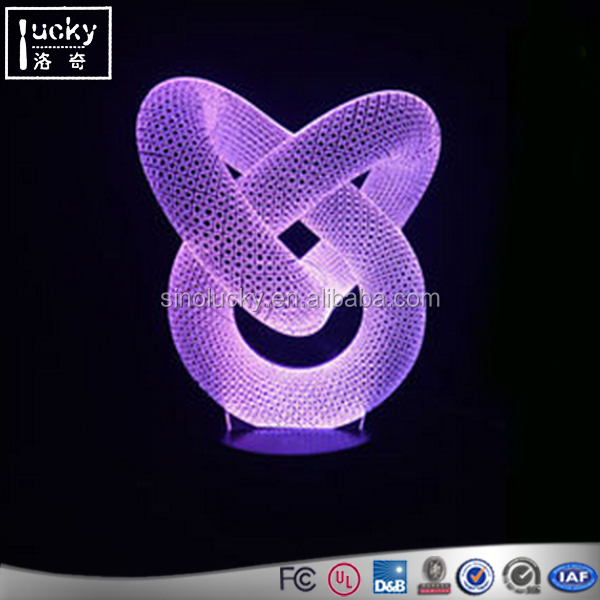 High end led night light sleep with 3d function all pattern customized night light