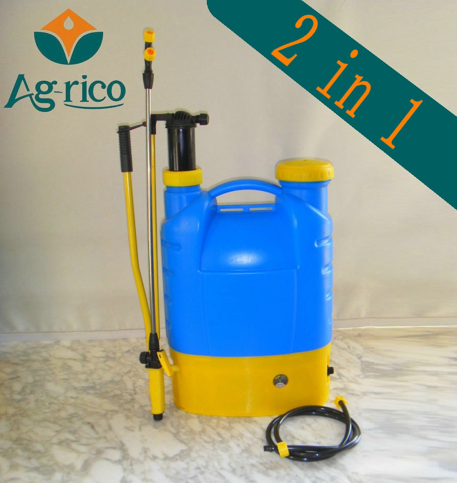 (AG-E16ES) 16L Backpack manual pump battery sprayer 2in1