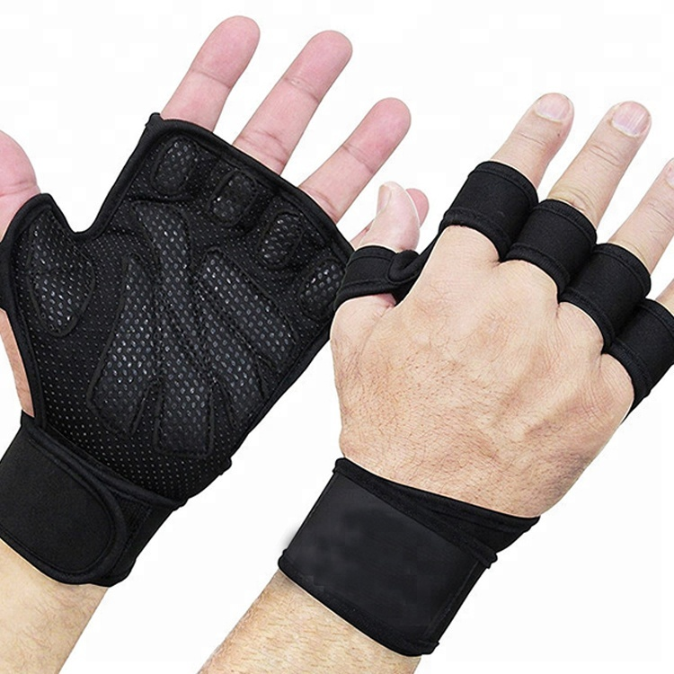 Custom Half finger Gym fitness weightlifting gloves фото