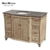 french country single bath vanity