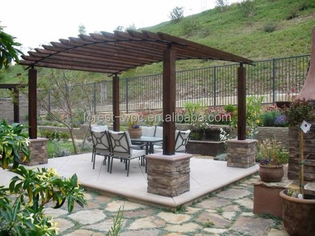 Fabrica o de abastecimento prefab pavilh o pavilh o gazebo telhado de pl stico arcos p rgulas - Venta de piedras para jardin ...