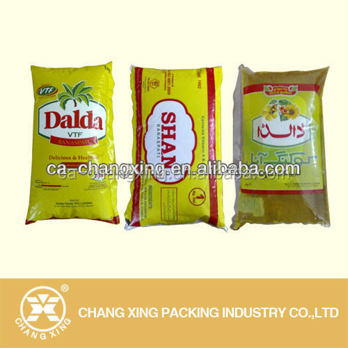 Customized liquid packaging plastic bag film/ food packaging pack plastic film for packing olive oil