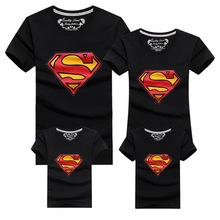 2016 New Family Look Superman T Shirts 9 Colors Summer Family Matching Clothes Mom & Dad & Son & Daughter Cartoon Outfits, HC315
