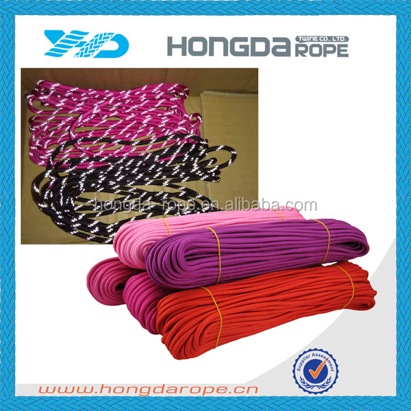 reflective 550 cord 4mm polyester paracord for survival bracelet drawstring cord