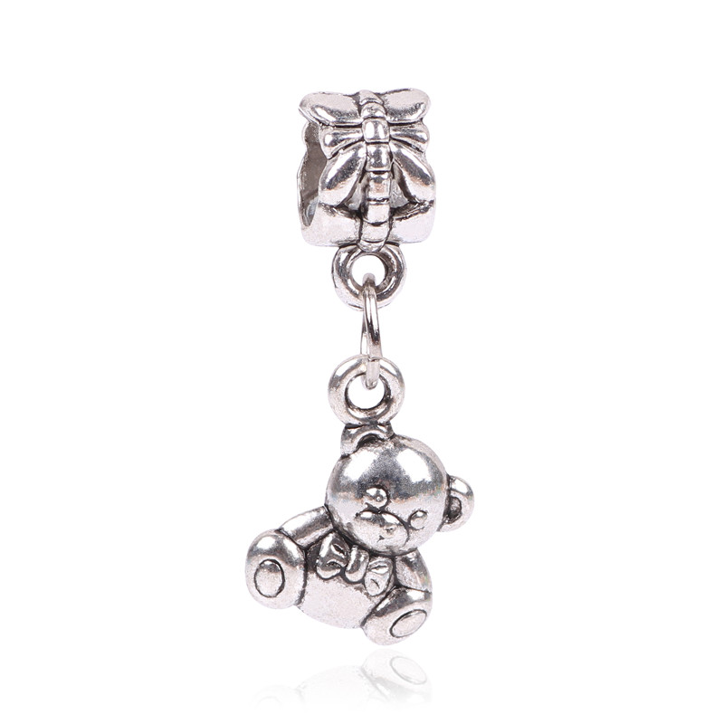 556b4cfc474 Free Shipping 1Pc Silver Bead Charm European Silver with bear Charm Pendant  Bead Fit Pandora Bracelet & Gift