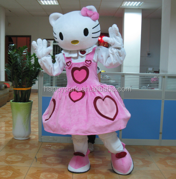 pink heart hello kitty mascot/hello kitty mascot costume