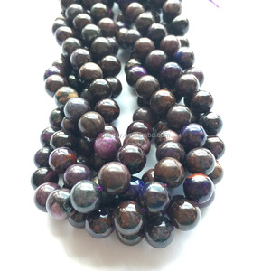 Natural Sugilite Gemstone Bead Semiprecious Stone Jewelry