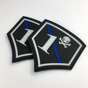 Fashion military garment patch custom 3D rubber pvc patch raised rubber custom patch