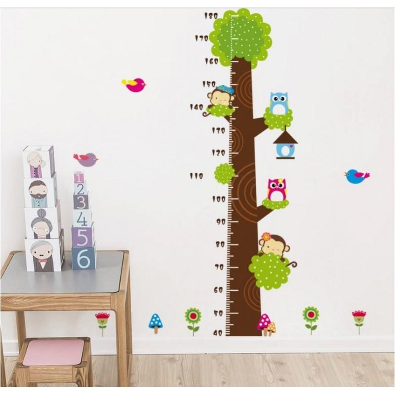 Wall Decals Sticker Wallpaper Growth Height Chart Ruler Measure Grow
