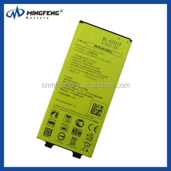 Made In China High Capacity For Lg G5 Battery Bl-42d1f With 12 Months  Warranty - Buy For Lg G5 Battery Bl-42d1f With 12 Months Warranty,Mobile