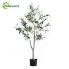 Indoor Decoration Plant Faux Bonsai Silk Leaf Large Artificial Olive Tree