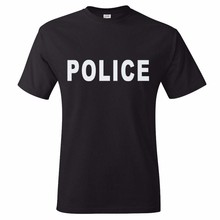 Custom t shirts 100% cotton mens premium tee wholesale short sleeve police t shirts