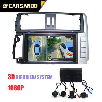 Hd 3d 1080p Bird Eye View 360 Surround Parking Camera With Car