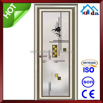 Decorative Waterproof Aluminium Door Bathroom Door Buy Aluminium - Bathroom doors waterproof