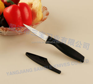 Unique design of black color PP handle with white coating blade of paring knife