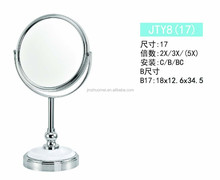 Desktop chrome plated cheap men shaving mirror