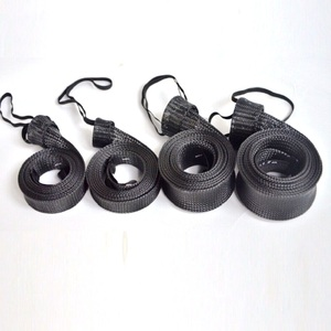 Dia. 1inch 5 ft length Black PET Braided Sleeve Fishing Rod Cover
