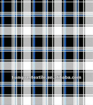Black White Plaid Flannel Fabric Buy Flannel Fabric For Shirting