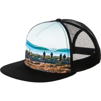 Custom Printed Flat Bill Brim Trucker Hat Wholesales - Buy Cool Flat ... 2ec57d3c456