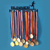 Medal hanger for swimming,running,cycling,gymnastics sport holder wall mounted medal display rack