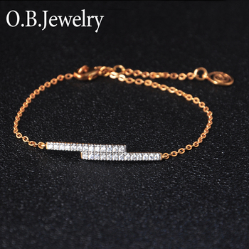 Factory OEM Baby Chain Jewelry 18K Gold Plated Small Chain Bracelet