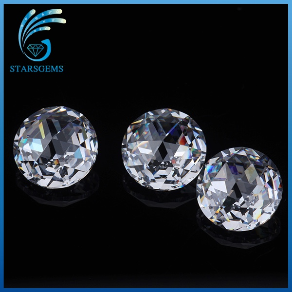 Wholesale factory price white color 6mm rose cut cubic zirconia for fashion jewelry