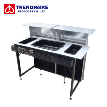 Outdoor Bartending Tools Folding Type Luggage Case Style Portable Cocktail Bar  Table Counter