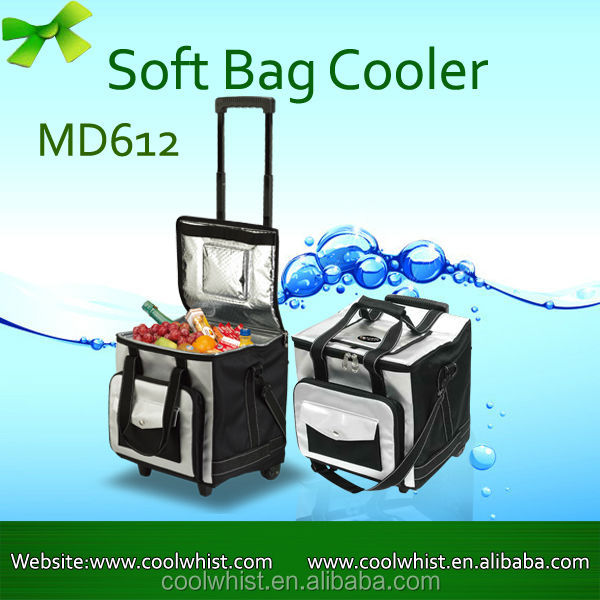 Kooling New Product 12V Voltage 32L wholesale insulated cooler bag on wheels