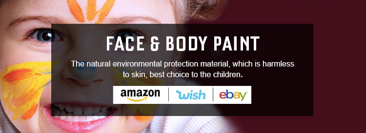 diy keramikfarbe set wasserbasierte gesicht malen und body paint kit / set für urlaub