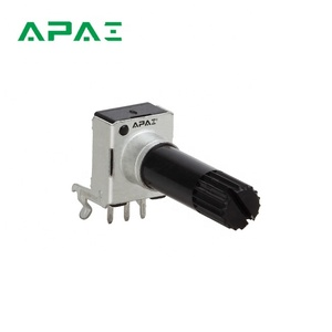RK0935N 9mm size snap-in type single-unit vertical rotary potentiometer with plain bushing fader