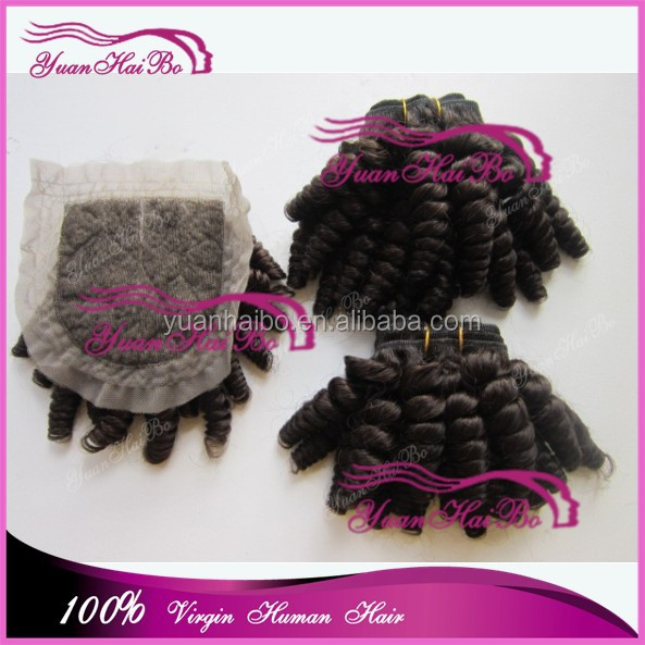 Top 6a grade quality 1b# 100% brazilian hair spring curls virgin human hair weaving with closures
