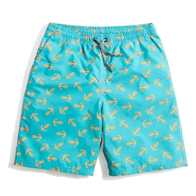 mens Royal blue printing Drawstring shorts Holiday Travel swim board shorts fashion casual sulfing board shorts