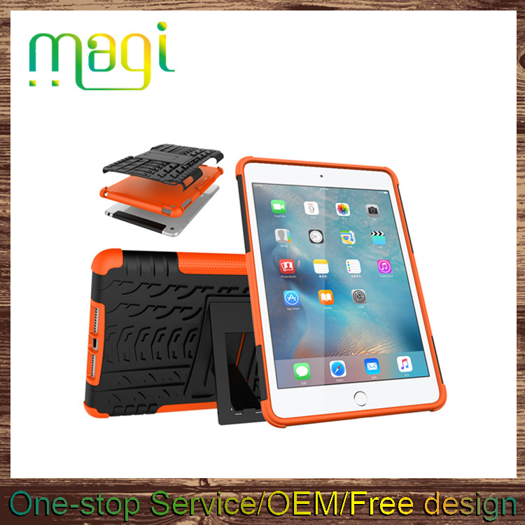New Arrival Tablet Case 2 in 1 Waterproof Shockproof Back Cover Case for Ipad mini4