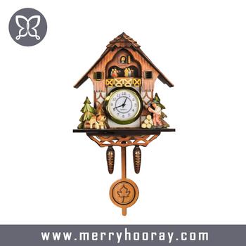 mdf wood customized cheap cuckoo clocks for sale