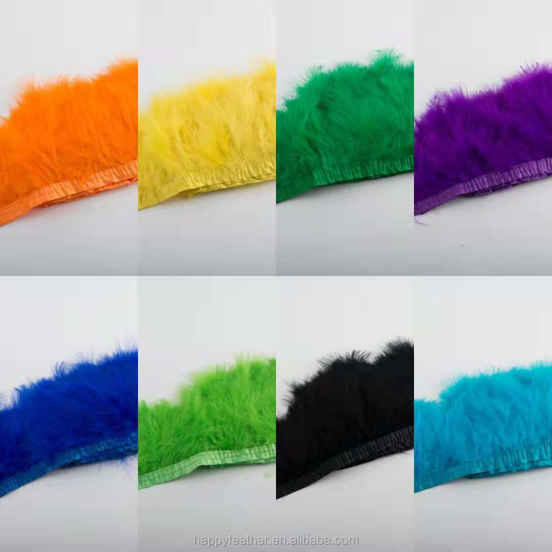 wholesale Best dyed marabou feather trimmings for party decor  turkey plume trim feather lace trim