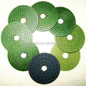 "Hunan 4"" Dry Granite Diamond floor Polishing Pads for Angle Grinder"
