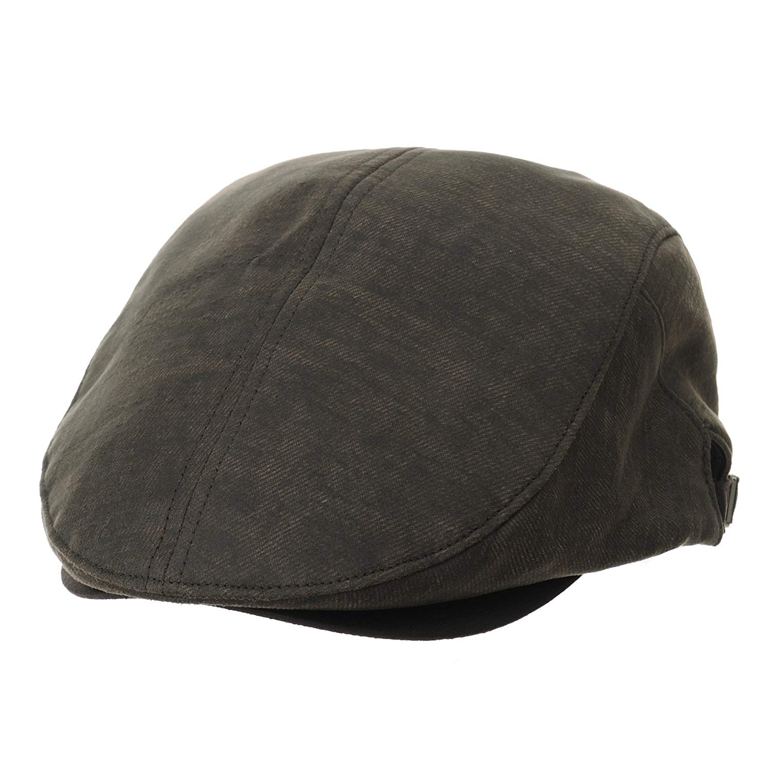 d40dfacb0df Get Quotations · WITHMOONS Faux Leather Newsboy Hat Simple Flat Cap CR3798