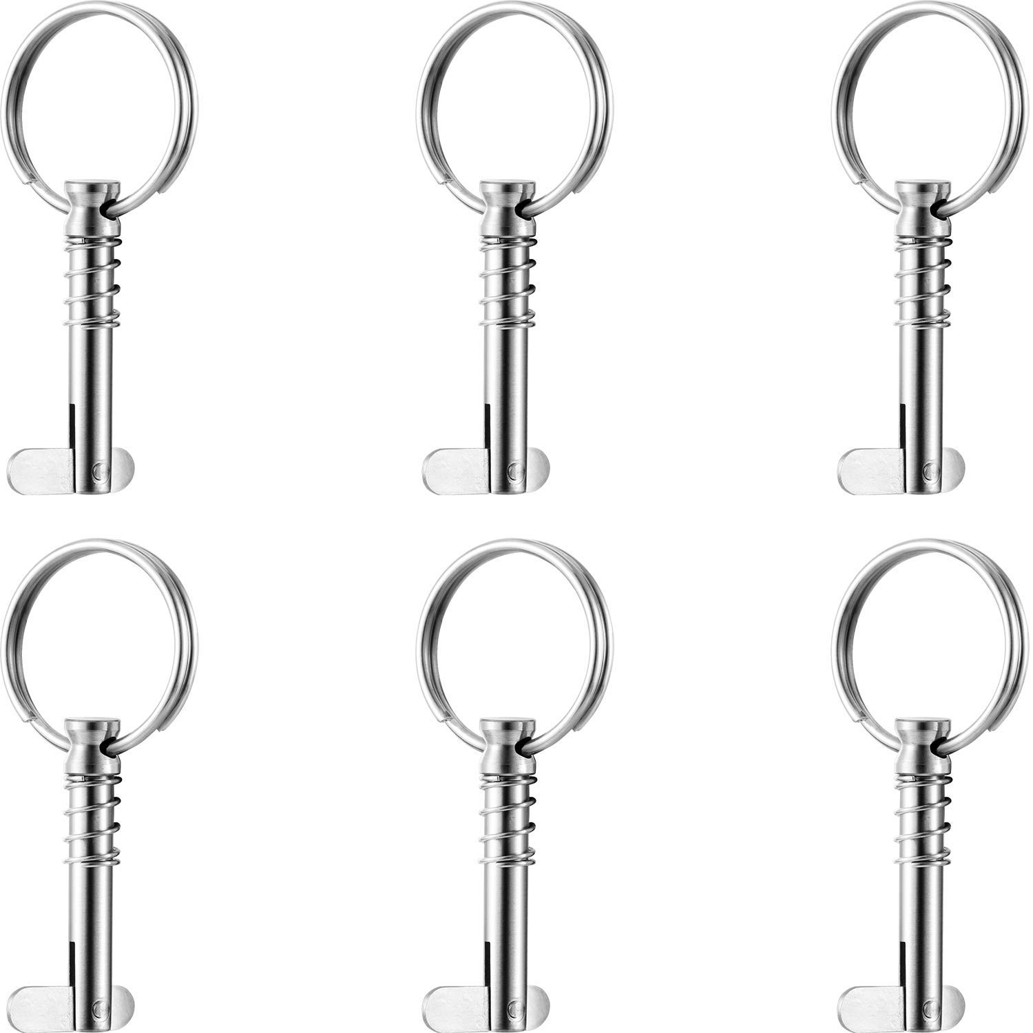 Marine Hardware ZOMCHAIN Quick Release Pin All Made of 316 Stainless Steel-4 Pack Bimini Top Pin,1//4 Diameter w//Drop Cam /& Spring