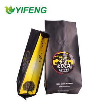 High Quality side gusset Coffee Packaging Bags With Valves