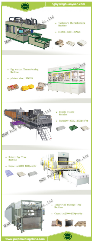 high quality disposable egg carton pulp molding production line