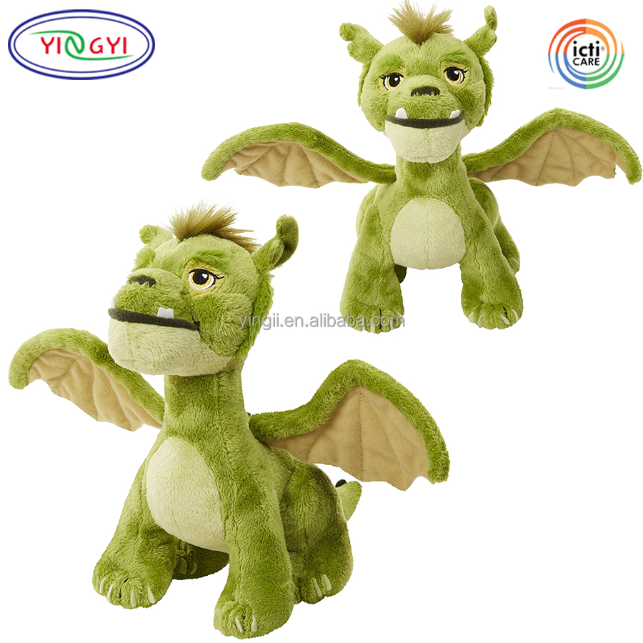 F268 Lovable Flying Green Dragon Stuffed Animal Toy Plush Baby Dragon