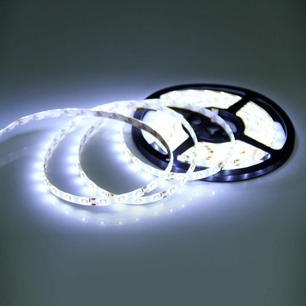 LED Light Strip,16.4ft Strip Lights Cool White Waterproof 300 12V LEDs Lights