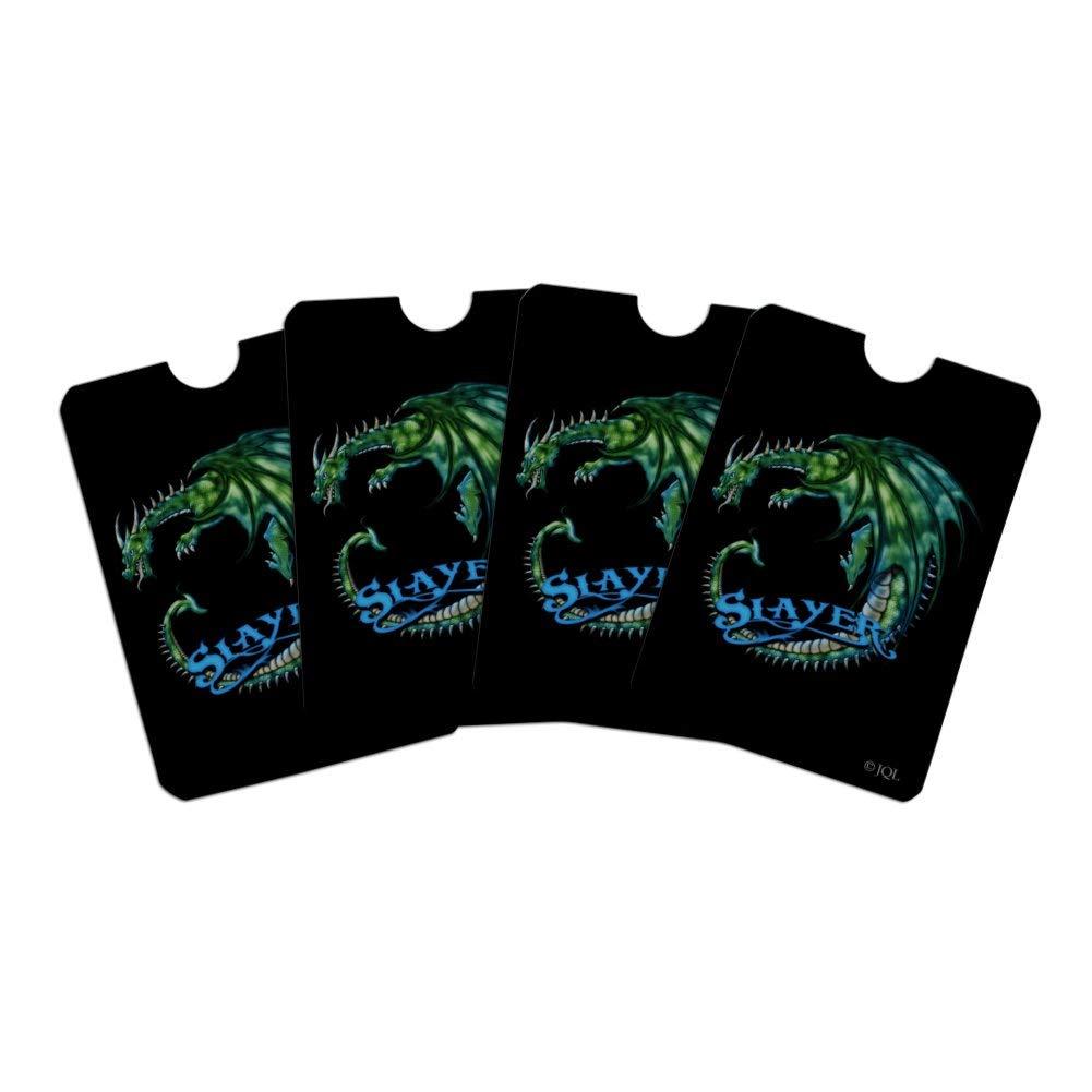 Dragon Slayer Fantasy Gaming Credit Card RFID Blocker Holder Protector Wallet Purse Sleeves Set of 4