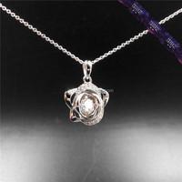 *JP0143 - Dancing Stone pendant,sterling silver cage pendant wholesale
